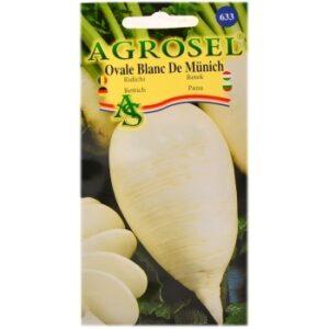 Seminte ridichi ovale Blanc de Munich(6  gr) Agrosel